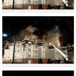 Four Alarm Fire Apartment Complex Under Construction (NJ)
