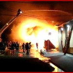 NIOSH F2009-21 Career fire fighter seriously injured from collapse of bowstring truss roof - California